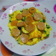 香肠煎鸡蛋