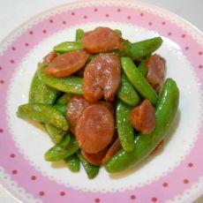甜豆炒香肠