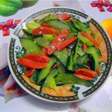香肠炒黄瓜
