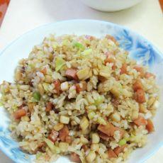 圆白菜杏鲍菇炒饭