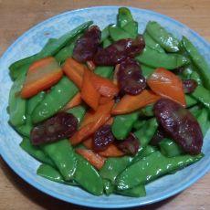荷兰豆绘胡萝卜