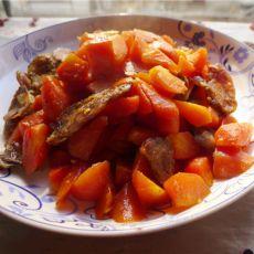 胡萝卜烧香肠