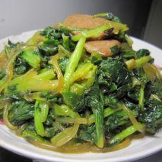 香肠炒苔菜