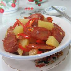 土豆片炒水晶香肠