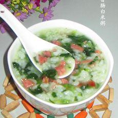 菠菜香肠白米粥