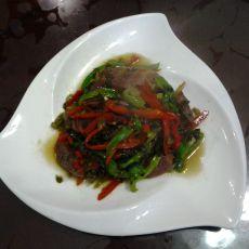 香肠咸菜炒双椒