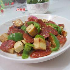 豆腐丁配香肠