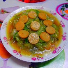 西生菜炒香肠