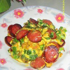 葱花鸡蛋煎香肠