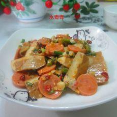 腐乳香肠卤豆腐片