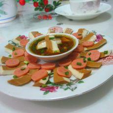 香肠卤豆腐片