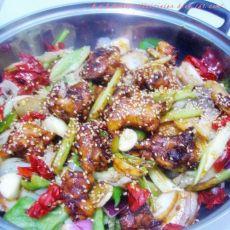 干锅香辣鸡煲
