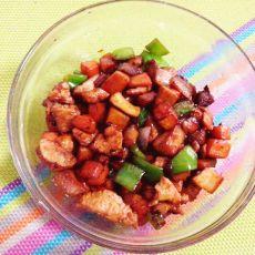 鸡肉丁炒杏鲍菇