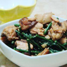 蚝油豆角焖鸡肉