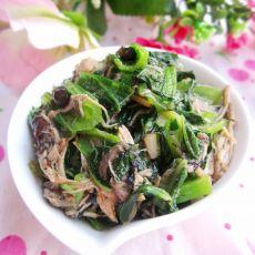鸡丝炒芥菜