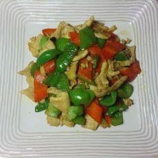 青椒胡萝卜炒鸡肉