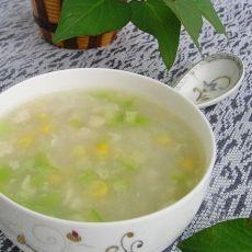 鸡肉玉米丝瓜粥