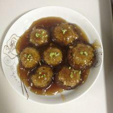 蚝油汁香菇酿鸡肉