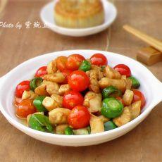 小番茄炒鸡丁的做法
