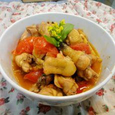 番茄炒鸡的做法