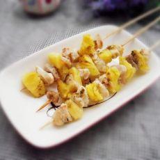 柠香菠萝鸡肉串