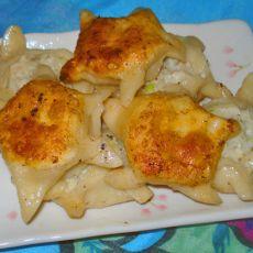 五角星形鸡肉锅贴