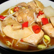 木瓜酸笋鸡的做法