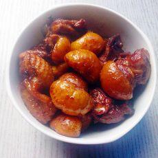 板栗红烧鸡肉