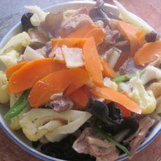 鸡肉花菜的做法