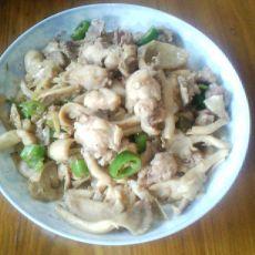 蘑菇菌炒鸡肉