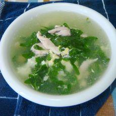 鸡肉枸杞菜汤的做法