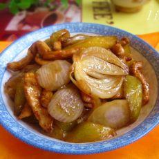 蚝油黄瓜炒鸡丝