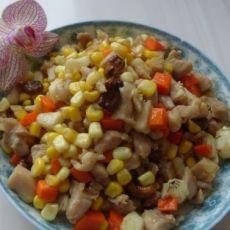 玉米腰果炒鸡丁的做法