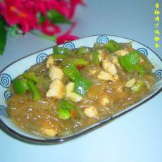 青椒鸡丁炖粉条