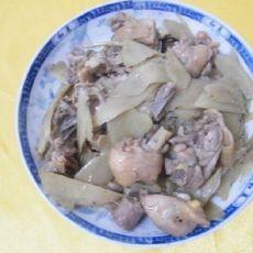 子姜焖鸡肉