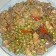 豌豆香菇炒鸡