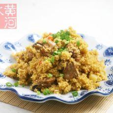 鸡翅焖小米饭