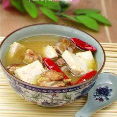 豆腐炖鸡块