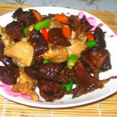 野生菌炒鸡翅