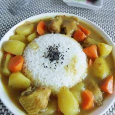 咖喱鸡翅饭