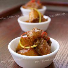 红咖喱土豆鸡翅