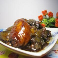 蚝油茄子烧鸡翅