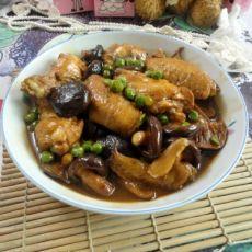 豌豆香菇焖鸡翅