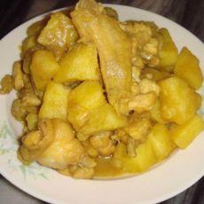 咖喱鸡焖土豆