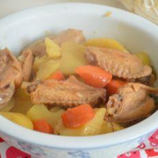 黄酒烧鸡翅土豆