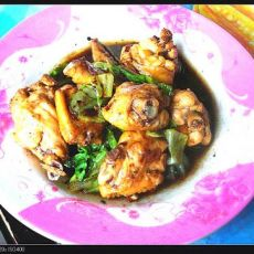 生菜炒鸡翅