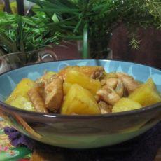 菠萝炒鸡翅