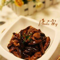 香菇丝炒鸡腿肉