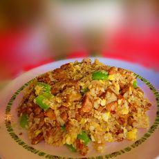 青椒鸡丁蛋炒饭