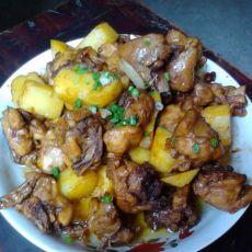土豆焖鸡腿